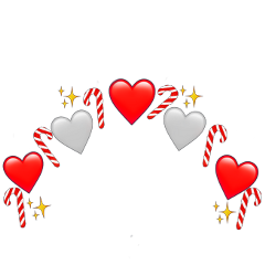heartcrown candycane heart christmas winter freetoedit