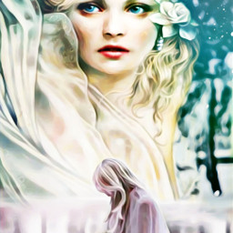 freetoedit popfantasy highlightmagiceffect oilpaintingeffect surrealism irc ircinthesnow