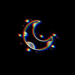 moon glitcheffect freetoedit