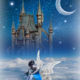 freetoedit fantasyart woman angel fairy