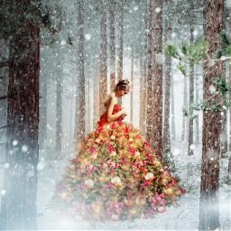 christmas tree christmastree dress winter freetoedit