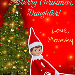 christmascard mommydaughter love lovely