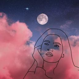 freetoedit doubleexposure backgroundsketcheffect sketcheffect clouds