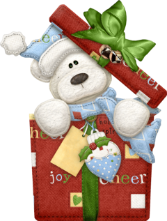 christmas bear present freetoedit