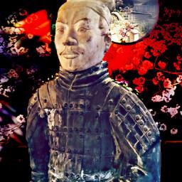 freetoedit warrior chinese statue