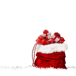 xmas santa kerst christmas bag freetoedit christmascard
