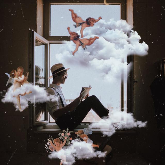 #unsplash #freetoedit #cherubs #angels #vintage #clouds #vintageaesthetic #aesthetic