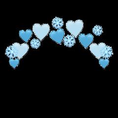 heartjoon blue heartcrown heart crown freetoedit