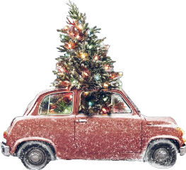 freetoedit winter car christmas tree scchristmaslights christmaslights