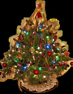christmas christmastree christmaslights magiceffect sticker freetoedit scchristmaslights