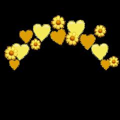 heartjoon yellow heart crown flower freetoedit