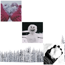 freetoedit winter snowman snowball gloves ccwintermoodboard wintermoodboard