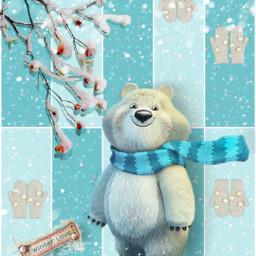 winter moodboard cozy bear blues freetoedit ccwintermoodboard wintermoodboard