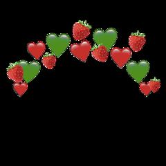 heartjoon heartcrown strawberry emoji red freetoedit