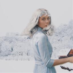 freetoedit icequeen snow squarefit backgroundchange
