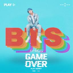 freetoedit gameover bts taehyung v