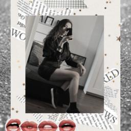 freetoedit picsartreplay woman glitter silver