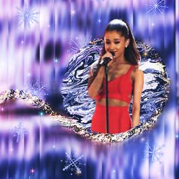 freetoedit arianagrande ariana grande snowflakes srcpurplesparkles purplesparkles