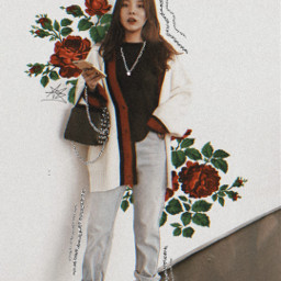 freetoedit aesthetic edit glitter sparkle glitterbrush roses rose red flowers girlpower effects fotoedit korean green calmness myedit picsart heypicsart