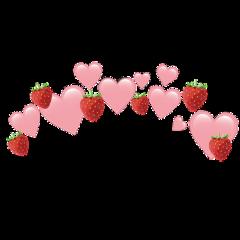 heartcrown heartjoon pink strawberry emoji freetoedit