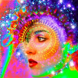 abstract fantasyart womanface freetoedit srcpurplesparkles purplesparkles