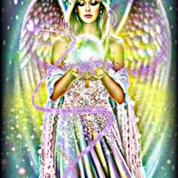 freetoedit remixed angel purple glitter srcpurplesparkles purplesparkles