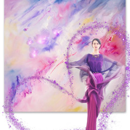freetoedit art purple purplelady paintings srcpurplesparkles purplesparkles