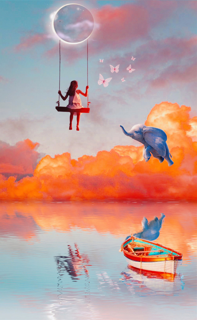 #freetoedit #remixit #surreal #art #reflection #girl #freedom #beautiful #madewithpicsart