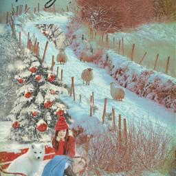 freetoedit remix myimagination holidays sheep