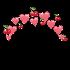 heartjoon heart crown cherry pink freetoedit