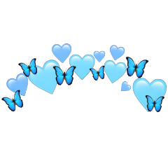 heartjoon heartcrown heart crown blue freetoedit