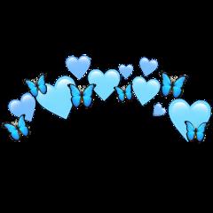 heartjoon heartcrown heart crown blue freetoedit