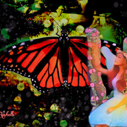 freetoedit remix butterfly nature fairy