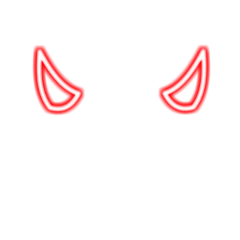 red horns devil freetoedit
