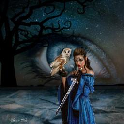 freetoedit witch warrior sword fantasy ircmagiceye