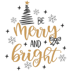 christmas text merry bright quote freetoedit