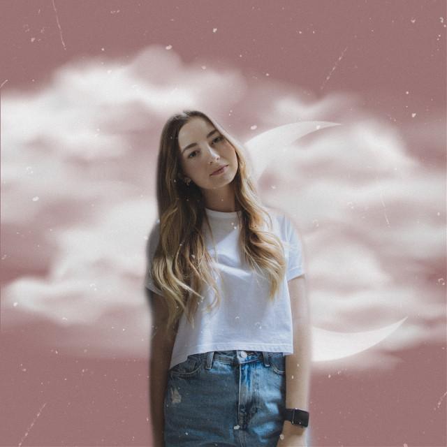 #freetoedit #clouds #cutout #swuarefit #backgroundchange #pink #vintage #moon