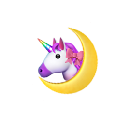 unicorn rainbow moon aesthetic emoji freetoedit