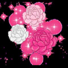 freetoedit overlay flowers sparkles pinklovers