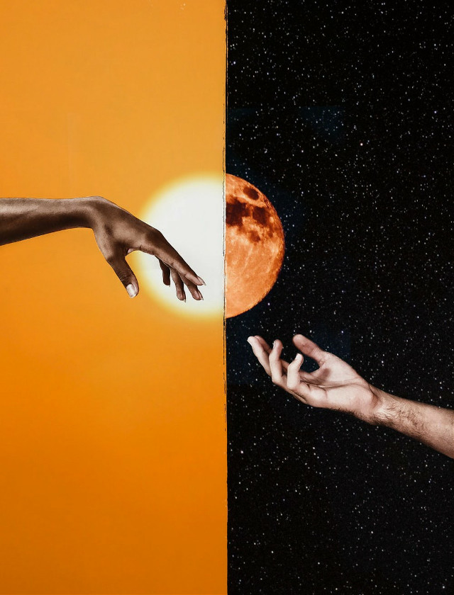 #freetoedit #sunandmoon #shinee #hands #stars #minimal #remixed