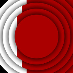 background circles red white merlin freetoedit