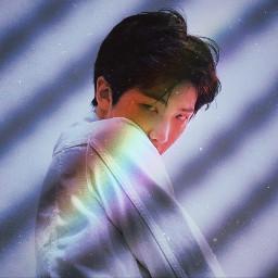 bts namjoon rainbow simple kpop freetoedit