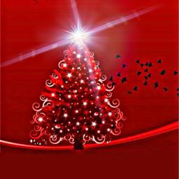 freetoedit red christmas tree brushtool