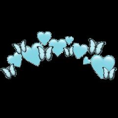 heartjoon light blue heartcrown butterfly freetoedit
