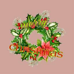 freetoedit christmas wreath christmastime