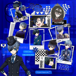 blackbutler ciel blue anime blueheart freetoedit