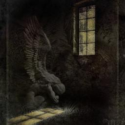 editedbyme angel sadness iceflowers shadows