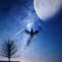 freetoedit galaxy galaxyedit angel shadow