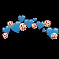 heartjoon clown crown heart blue freetoedit
