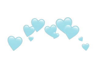 heartjoon blue transparent heart crown freetoedit